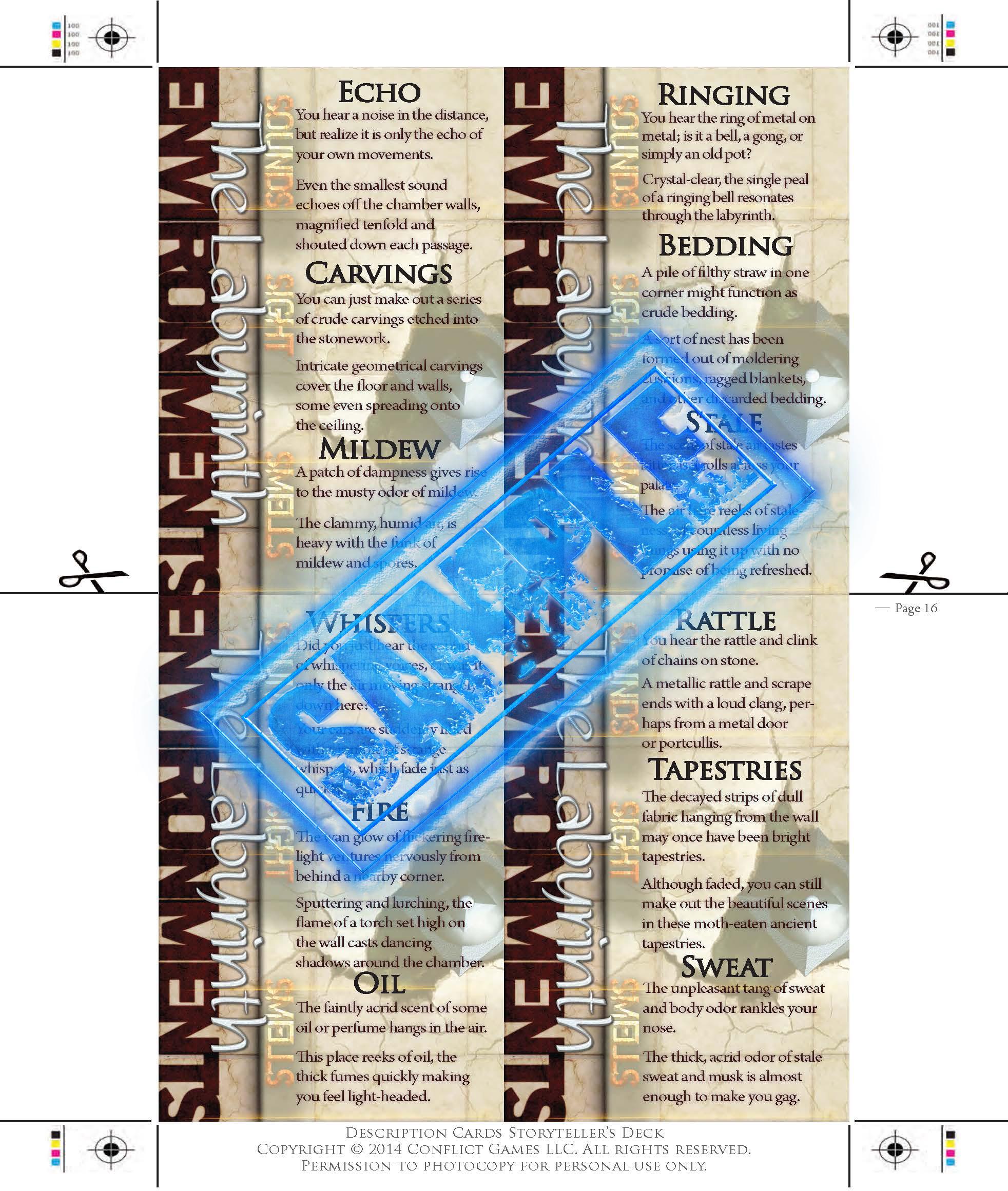 Description Cards - Storytellers Deck - LABYRINTH excerpt