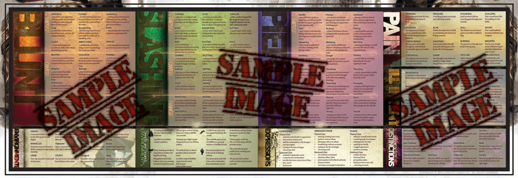 Combat Description Card Writer's & GM Screen Interior Image